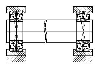 Схема опор оси 1