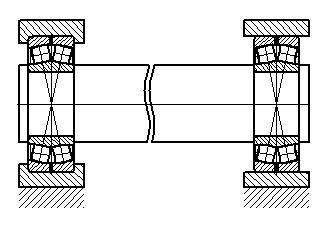 Схема опор оси 2
